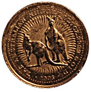 5 Dollars - Elizabeth II (4th Portrait - Australian Nugget - Gold Bullion Coin) -  reverse