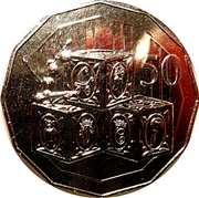50 Cents - Elizabeth II (Royal Baby) -  reverse
