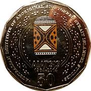 50 Cents - Elizabeth II (AIATSIS; colourized) -  reverse