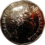 50 Cents - Elizabeth II (4th Portrait - Gallipoli Campaign) -  obverse