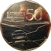 50 Cents - Elizabeth II (50 years of Bathurst Race) -  reverse