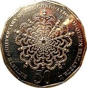 50 Cents - Elizabeth II (60th Anniversary of the Coronation of Her Majesty Queen Elizabeth II) -  reverse