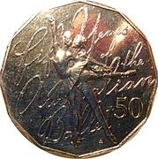 50 Cents - Elizabeth II (50th Anniversary of the Australian Ballet) -  reverse