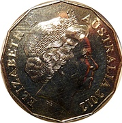 50 Cents - Elizabeth II (70th Anniversary of the Kokoda Trail) -  obverse