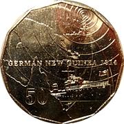 50 Cents - Elizabeth II (German New Guinea) -  reverse