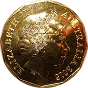 50 Cents - Elizabeth II (Gold Plated Coat of Arms) -  obverse