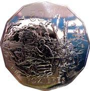 50 Cents - Elizabeth II (4th Portrait - Pozieres) -  reverse