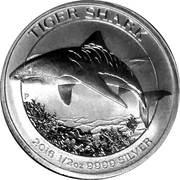 50 Cents - Elizabeth II (Tiger Shark) -  reverse