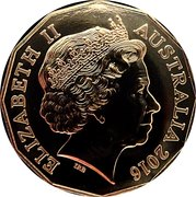 50 Cents - Elizabeth II (Holden Heritage 160 Years) -  obverse