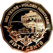 50 Cents - Elizabeth II (Holden Heritage 160 Years) -  reverse