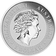 1 Dollar - Elizabeth II (4th Portrait - Australian Kangaroo Gilded Edition) -  obverse