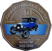 50 Cents - Elizabeth II (Ford Model T) -  reverse