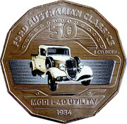 50 Cents - Elizabeth II (Ford Model 40 Coupe Utility) -  reverse