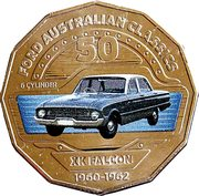 50 Cents - Elizabeth II (Ford XK Falcon) -  reverse