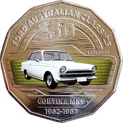 50 Cents - Elizabeth II (Ford Cortina MK1) -  reverse