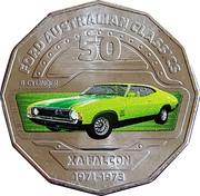 50 Cents - Elizabeth II (Ford XA Falcon) -  reverse