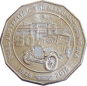 50 Cents - Elizabeth II (Ford Australia - The Manufacturing ERA) -  reverse