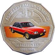 50 Cents - Elizabeth II (Ford XE Falcon) -  reverse