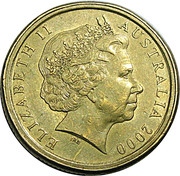 1 Dollar - Elizabeth II (10 cent obverse die mule) -  obverse