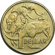 1 Dollar - Elizabeth II (10 cent obverse die mule) -  reverse