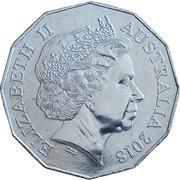 50 Cents - Elizabeth II (4th Portrait - Villers-Bretonneux) -  obverse