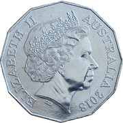 50 Cents - Elizabeth II (4th Portrait - Battle of Amiens) -  obverse