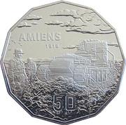 50 Cents - Elizabeth II (4th Portrait - Battle of Amiens) -  reverse