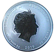 50 Cents - Elizabeth II (Year of the Pig) -  obverse
