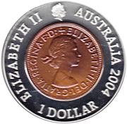1 Dollar - Elizabeth II (Last Australian Penny) -  obverse