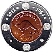 1 Dollar - Elizabeth II (Last Australian Penny) -  reverse