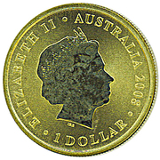 1 Dollar - Elizabeth II (Year of the Rat) -  obverse