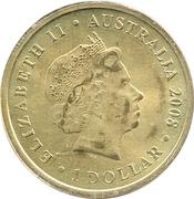1 Dollar - Elizabeth II (Whale Shark) -  obverse