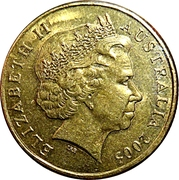 1 Dollar - Elizabeth II (4th Portrait - Peace - End World War II) -  obverse