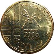1 Dollar - Elizabeth II (4th Portrait - XVIII Commonwealth Games Melbourne 2006) -  reverse
