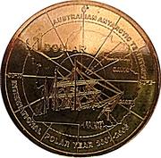 1 Dollar - Elizabeth II (4th Portrait - Polar Year) -  reverse