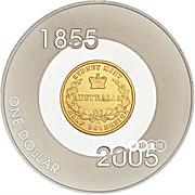 1 Dollar - Elizabeth II (Sydney Mint Sovereign) -  reverse