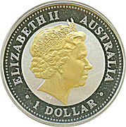 1 Dollar - Elizabeth II (50th Anniversary of Royal Visit) -  obverse