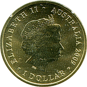 1 Dollar - Elizabeth II (4th portrait; Year of the Ox) -  obverse