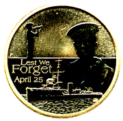 1 Dollar - Elizabeth II (4th portrait; ANZAC Day, Navy) -  reverse