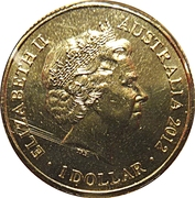 1 Dollar - Elizabeth II (4th Portrait - Year of the Dragon) -  obverse
