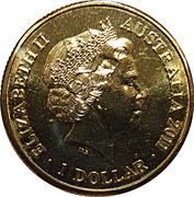 1 Dollar - Elizabeth II (4th Portrait - Year of the Rabbit) -  obverse