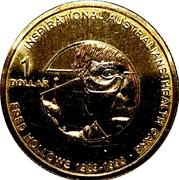 1 Dollar - Elizabeth II (4th Portrait - Inspirational Australians - Fred Hollows) -  reverse