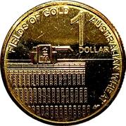 1 Dollar - Elizabeth II (4th Portrait - Australian Wheat Fields of Gold) -  reverse