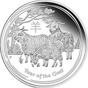 1 Dollar - Elizabeth II (4th Portrait - Year of the Goat - Silver Bullion Coin) -  reverse