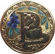 1 Dollar - Elizabeth II (4th Portrait - Alphabet Collection - Letter P) -  reverse