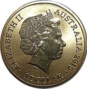 1 Dollar - Elizabeth II (Unlikely Heroes - Murphy the Donkey) -  obverse