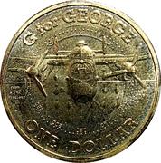 1 Dollar - Elizabeth II (4th Portrait - G for George) -  reverse