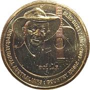 1 Dollar - Elizabeth II (4th Portrait - Inspirational Australians - Slim Dusty) -  reverse