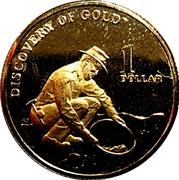 1 Dollar - Elizabeth II (4th Portrait - Mining Australia) -  reverse
