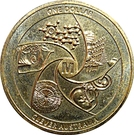 1 Dollar - Elizabeth II (4th Portrait - Clever Australia) – reverse